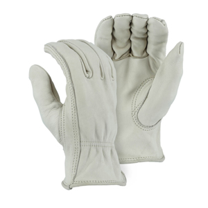1510BA Cowhide Drivers Glove w/ Leather Rolled Hem