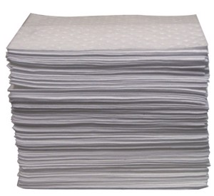Oil-Only Sorbent Pads, Heavy-Weight, Absorbs 20.5 gal, 15 in x 17 in