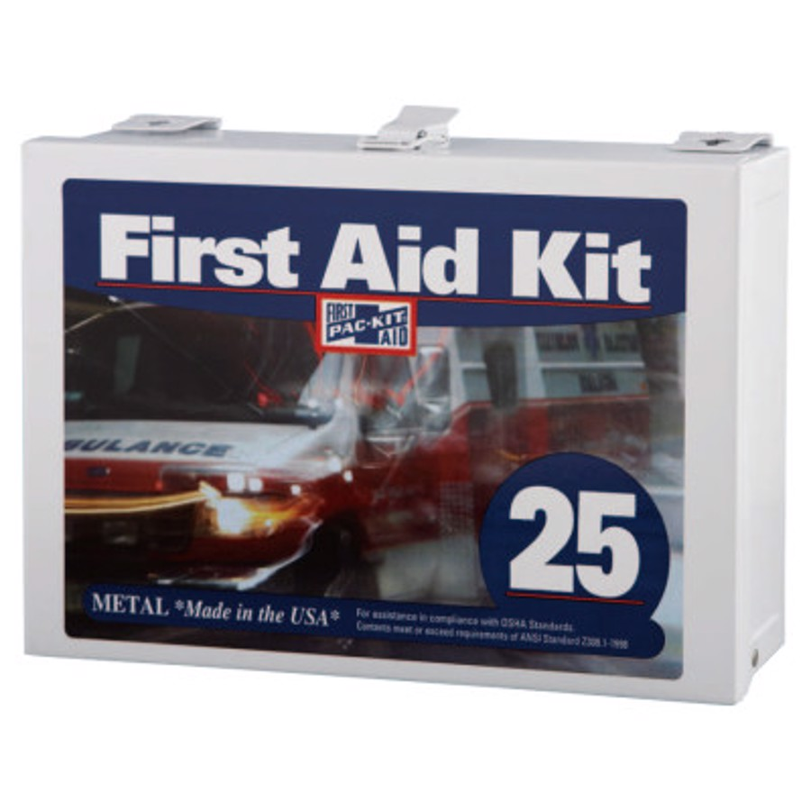 25 Person Industrial First Aid Kits, Steel (non-gasketed), Wall Mount