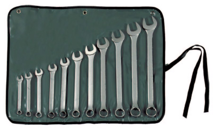 11 Piece Combination Wrench Sets, Points, Inch