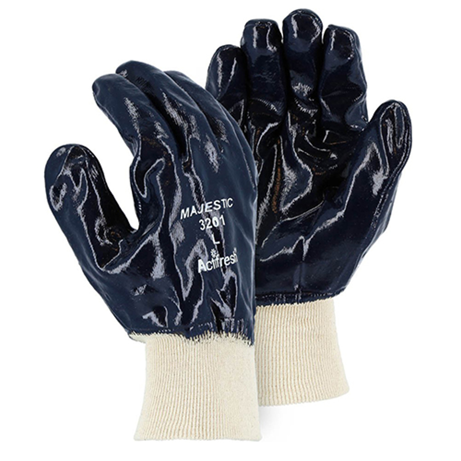 3201 Heavy Duty Fully Dipper Nitrile Palm Coated Glove