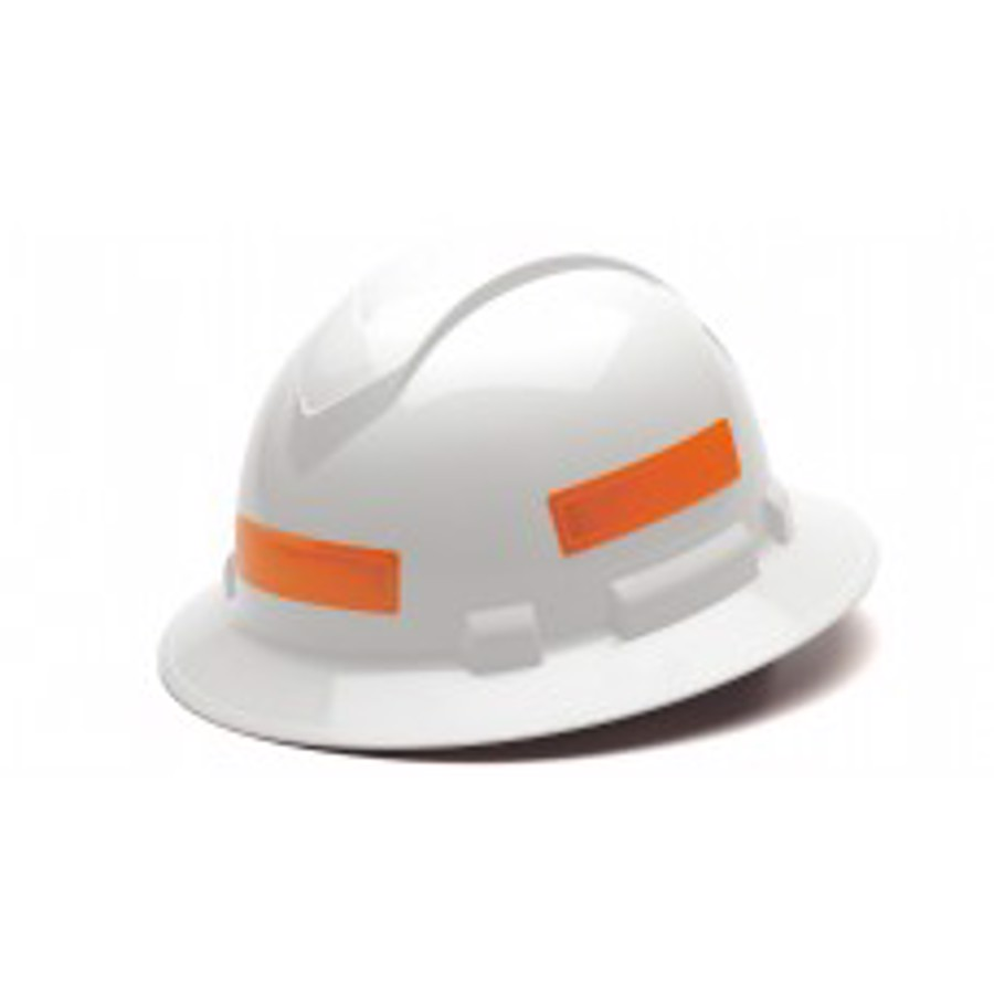 Adhesive reflective stripe for hard hats - Orange