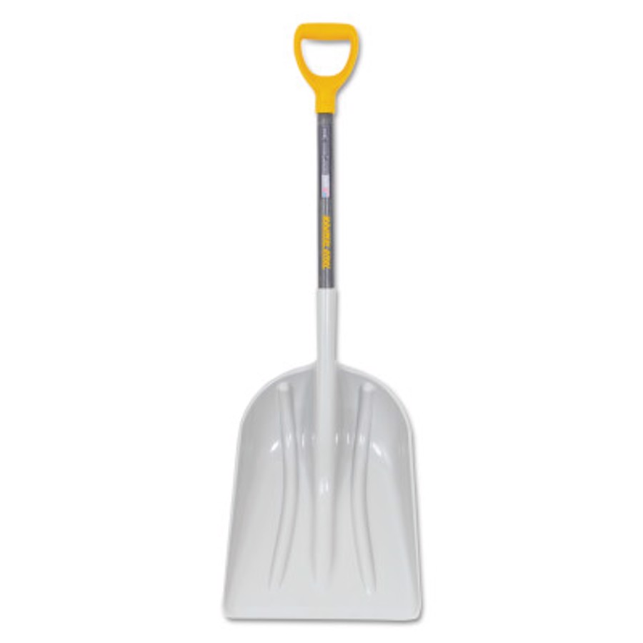 ABS Scoops, 20 in X 15-1/2 in Blade, 27 in White Ash D-Handle
